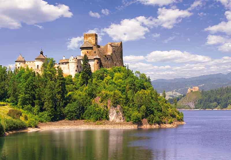 castorland 1000 pieces jigsaw puzzle, dunajec castle niedzica poland puzzel dunajec-castle-niedzica-poland