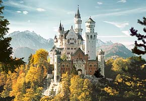 neuschwanstein castle jigsaw puzzle 1500 pieces, germany castorland puzzle neuschwansteincastle1500