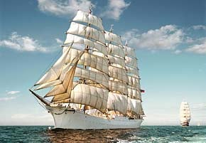 1500 pieces puzzle of sailing ship, castorland jigsaw puzzle sailingship