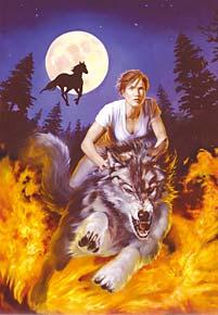 wolf rider fantasy image jigsaw puzzle, 1500 pieces castorland wolfrider