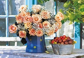 bunch of roses photo, jigsaw puzzle of still life photo, castorland puzzle 1500 pieces bunchofroses