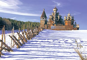 castorland 1500 pieces jigsaw puzzle, karelia russia wooden churches, woodenchurchesonkozhi
