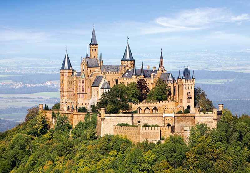 castorland 1500 pieces jigsaw puzzle, hohenzolern castle in germany hohenzollern-castle-germany