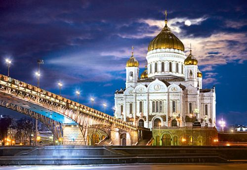 cathedral of christ the savior in russia, 1500 pieces jigsaw puzzle, castorland cathedral-christ-saviour-russia
