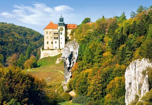 castorland 1500 pieces jigsaw puzzle, castle pieskowa skala poland castle-pieskowa-skala-poland