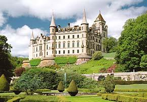 dunrobin castle scotland, 2000 pieces jigsaw puzzle castorland dunrobincastle