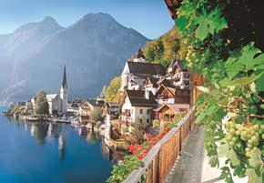 hallstatt austria jigsaw puzzle, castorland puzzles of photographs nature scene hallstatt