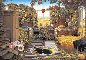 2000 pieces jigsaw puzzle by castorland, jacek yerka surreal puzzle, sunday morning, sundaymorning