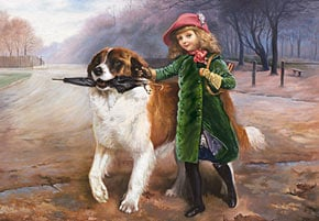 off to school by charles burton barber painting, castorland 2000 pieces jigsaw puzzle offtoschool