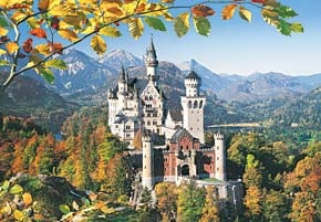 neuschwanstein castle germany jigsaw puzzle 3000 pieces, castorland puzzles, neuschwansteincastle3000