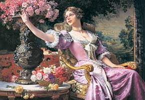 castorland 3000 pieces, lady in purple dress by czachorski, old painting, jigsaw puzzle ladyinpurpledress