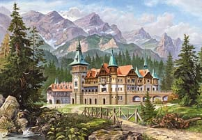 castorland copy of painting castle at the foot of the mountains, 3000 pieces castleatthefootofthemountains