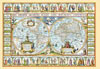 1000 pieces jigsaw puzzle by castorland, map of the world