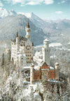 1000 pieces jigsaw puzzle by castorland, neuschwanstein castle in winter