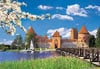 1000 pieces jigsaw puzzle by castorland, trakai castle lithuania