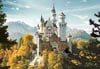 neuschwanstein castle jigsaw puzzle 1500 pieces, germany castorland puzzle