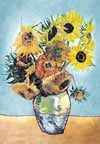 sunflowers by vincent van gogh, castorland jigsaw puzzle 1500 pieces