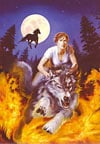 wolf rider fantasy image jigsaw puzzle, 1500 pieces castorland