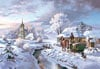 winter village, 1500 pieces jigsaw puzzle, arts paintings of winter scene,