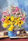 flower's shine, 1500 jigsaw puzzle, still life photo, castorland
