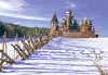 castorland 1500 pieces jigsaw puzzle, karelia russia wooden churches,