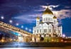 cathedral-christ-saviour-russia,cathedral of christ the savior in russia, 1500 pieces jigsaw puzzle, castorland