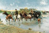 therivercrossing,the river crossing by wierusz-kowalski, castorland 2000 pieces jigsaw