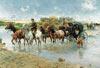 the river crossing by wierusz-kowalski, castorland 2000 pieces jigsaw Puzzle