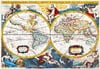 world map early 18th century by pieter vander, painting, jigsaw puzzle,