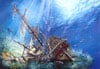 2000 pieces jigsaw puzzle by castorland, sunk galleon ship in the ocean