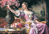 castorland 3000 pieces, lady in purple dress by czachorski, old painting, jigsaw puzzle