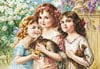 castorland 3000 pieces jigsaw puzzle, the three graces by emile vernon,