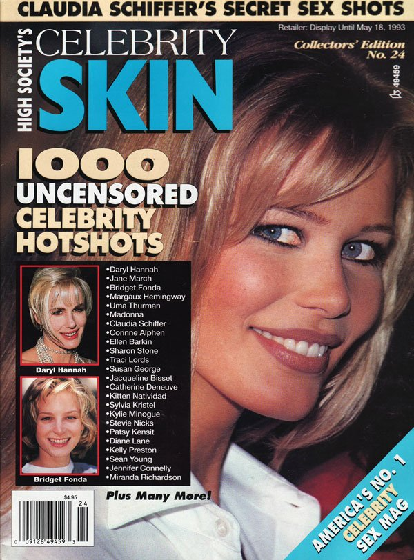 Celebrity Skin # 24 magazine back issue Celebrity Skin magizine back copy celebrity skin magazine, hot nude celebs in celebrity skin mag, skin mag, hollywood hooters, naughts
