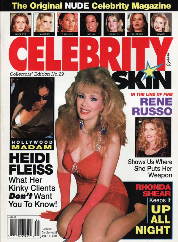 Celebrity Skin # 29 magazine back issue Celebrity Skin magizine back copy celebrity skin magazine number 29, hot sexy girls naked, the hottest celebs topless, xxx pics, hot h