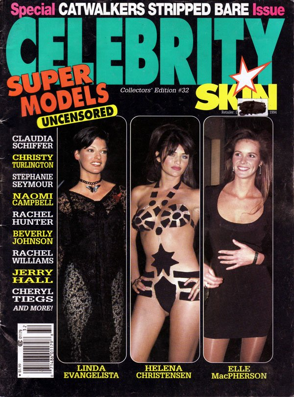 Celebrity Skin # 32 magazine back issue Celebrity Skin magizine back copy catwalkers, celebrity skin magazines, back issues, vintage, collector's copies, used mags, uncensore