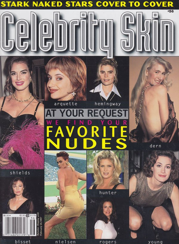 Celebrity Skin # 56 magazine back issue Celebrity Skin magizine back copy celebrity skin magazine back issues 97 favorite nudes hottest celebs topless pics stark naked starle