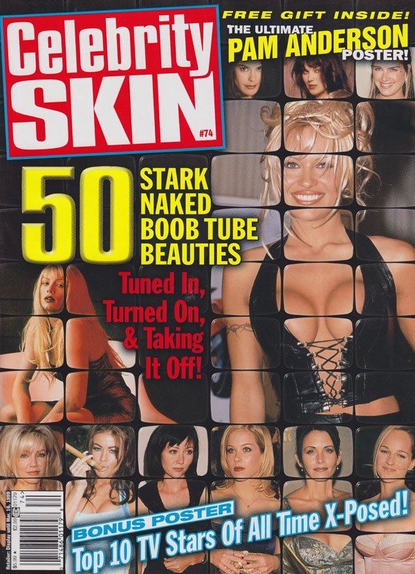 Celebrity Skin # 74 magazine back issue Celebrity Skin magizine back copy celebrity skin magazine 1999 back issues hottest celebs naked pam anderson tv stars topless nip slip
