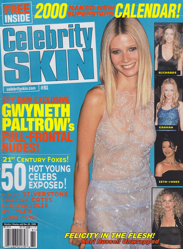 Celebrity Skin # 81 magazine back issue Celebrity Skin magizine back copy celebrity skin magazine back issues no 81 1999 gwyneth paltrow covergirl hot celebs topless candid m