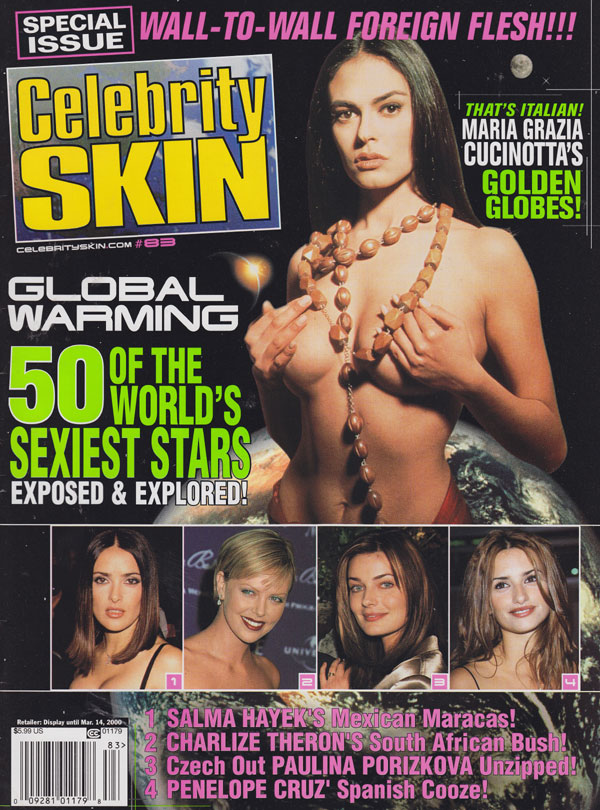Celebrity Skin # 83 magazine back issue Celebrity Skin magizine back copy celebrity skin 2000 back issues sexy starlets nude topless full frontal movie sex scenes naughty bab
