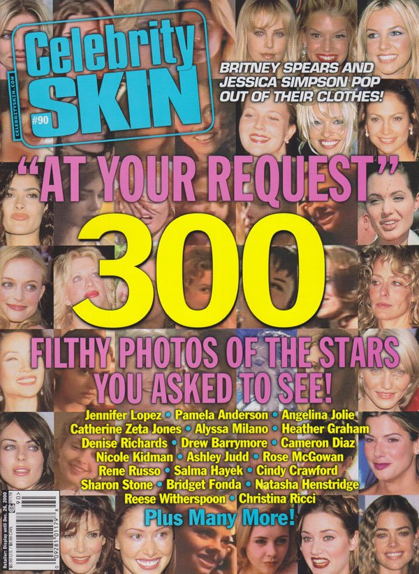 Celebrity Skin # 90 magazine back issue Celebrity Skin magizine back copy celebrity skin magazine back issues no 90 2000 over 300 celeb photos xxx full frontals nip slips sex