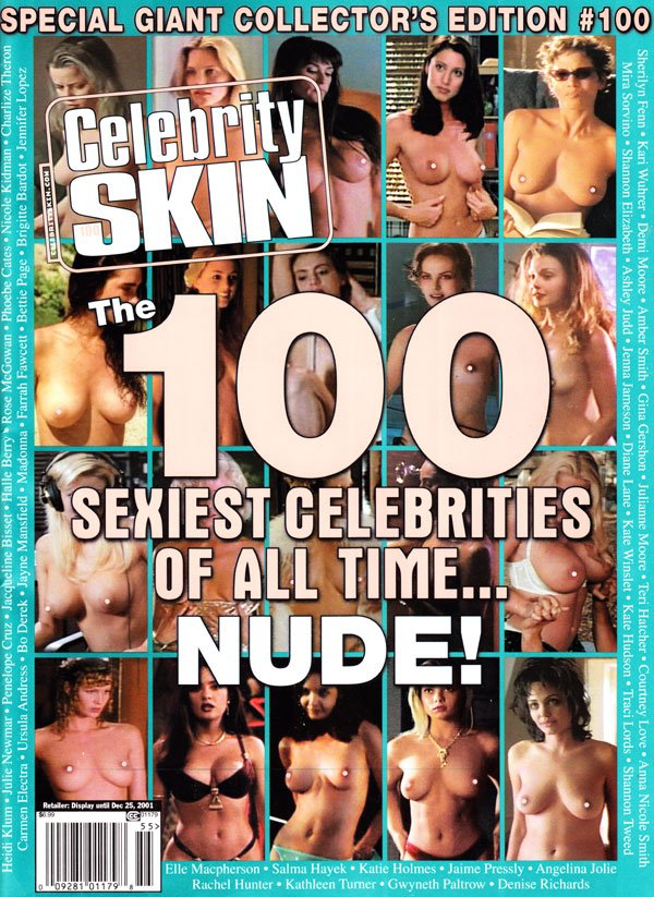 Celebrity Skin # 100 magazine back issue Celebrity Skin magizine back copy celebrity skin 2001 back issues hot nude starlets topless celebs nip slips movie stills sexiest star