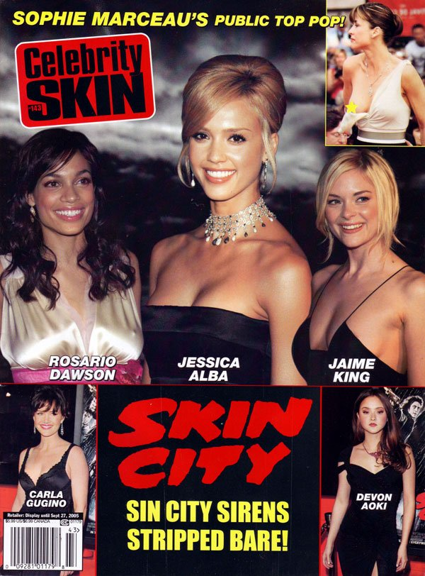 Celebrity Skin # 143 magazine back issue Celebrity Skin magizine back copy used magazines, celebrity skin back issues, hot nude celebs, jessica alba, sophie marceau, jaime kin