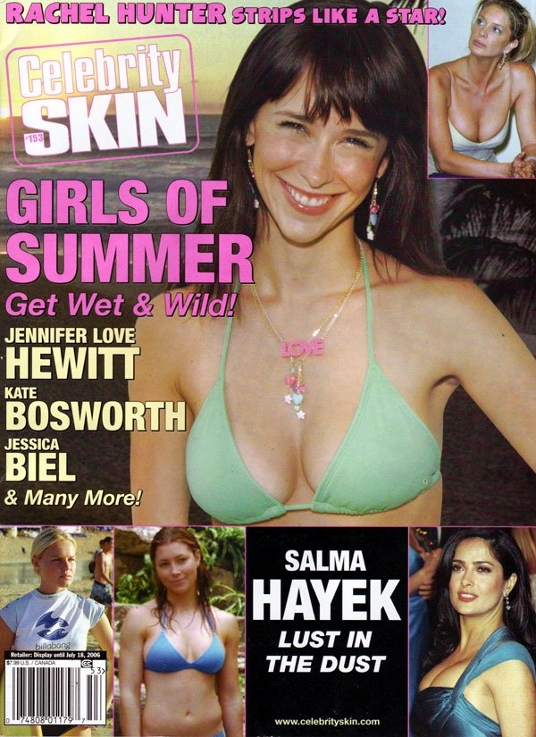 Celebrity Skin # 153 magazine back issue Celebrity Skin magizine back copy rachel hunter, celebrity skins magazines, girls of summer, nude celebs, topless teens, jennifer love