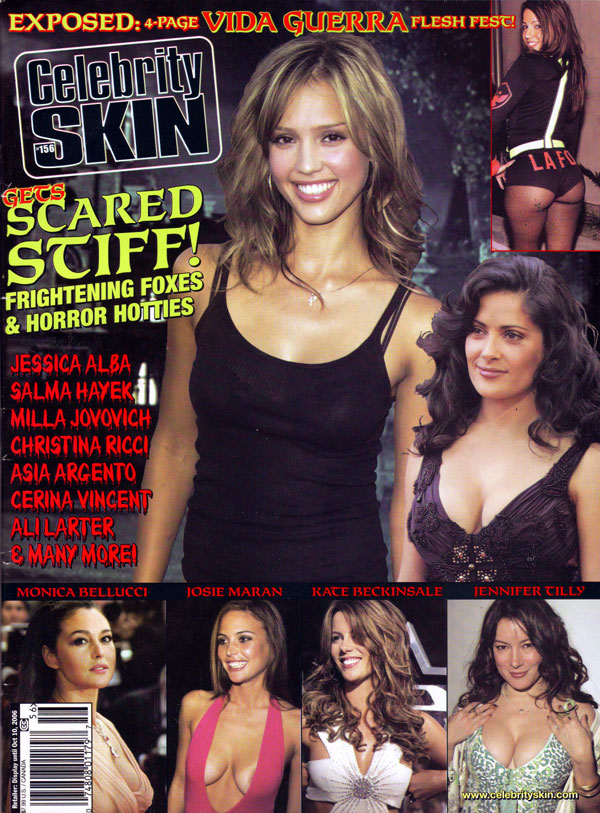 Celebrity Skin # 156 magazine back issue Celebrity Skin magizine back copy celebrity skin, used magazine, back issues, jessica alba, salma hayek, topless celebs, nudecelebrity