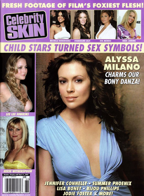 Celebrity Skin # 168 magazine back issue Celebrity Skin magizine back copy celebrity skin magazine 2007, the hottest stars, alyssa milano, nude stars, celeb skin, foxiest fles