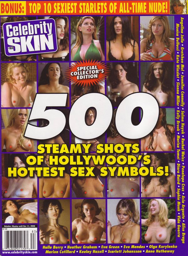 Celebrity Skin # 183 magazine back issue Celebrity Skin magizine back copy celebrity skin magazine 2008 issues xxx pix celebritynude photos stars naked steamy movie scenes boo