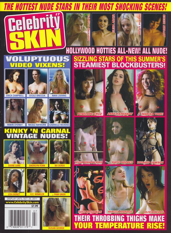 Celebrity Skin # 207, 2011 magazine back issue Celebrity Skin magizine back copy  Hottest Nude Stars, Shocking Scenes, Penelope Cruz,Kinky 'N Carnal Vintage Nudes,Bo Derek