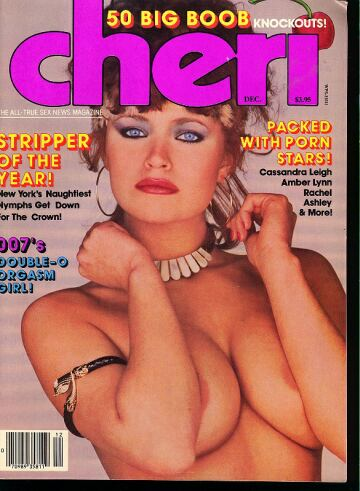 Cheri December 1985 magazine back issue Cheri magizine back copy