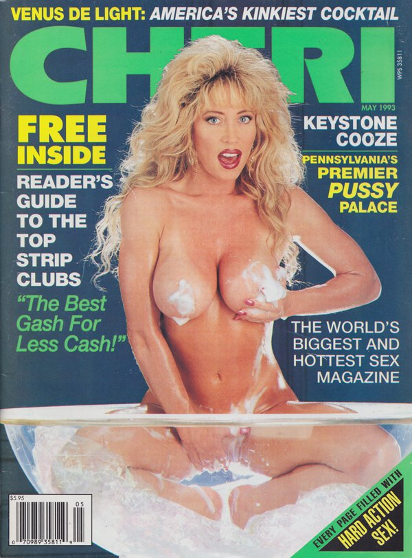 Cheri May 1993 magazine back issue Cheri magizine back copy Keystone Cooze, Pennsylvania, Premier Pussy Palace, Best Gash For Less Cash,Clit-to-ClitJuicy Jugs