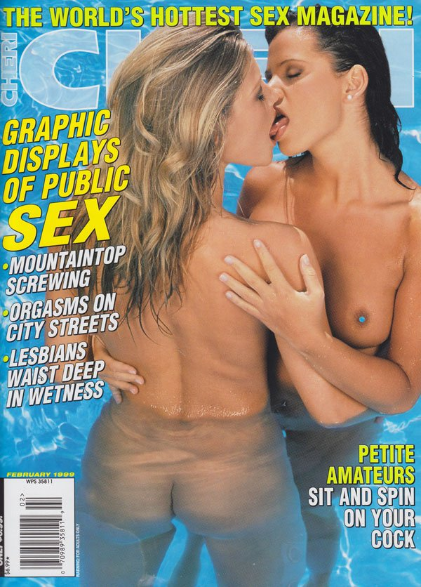Cheri February 1999 magazine back issue Cheri magizine back copy cheri magazine 1999 back issues graphic explicit public sex pics orgasms petite amateur pornstars nu